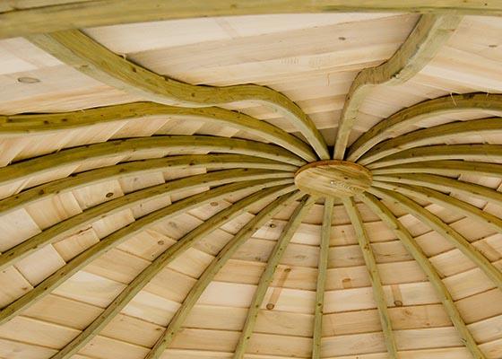 drewniana wiata